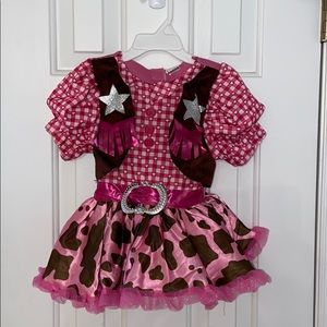 Toddler 2T pink Cowgirl Costume Dress